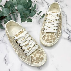 "COACH ""Etta"" Sneakers Monogram Canvas Size 5"